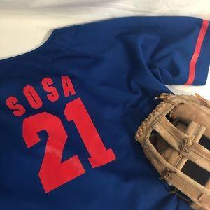 🍁 Vntg Sammy Sosa Jersey Genuine Chicago Cubs L